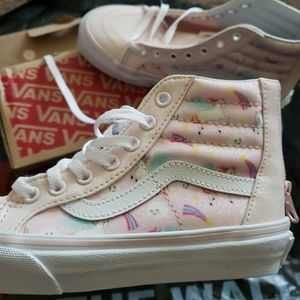 Vans Shoes - Brand new unicorn vans high tops girls size 13